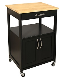 Catskill Craft Black Kitchen Trolley