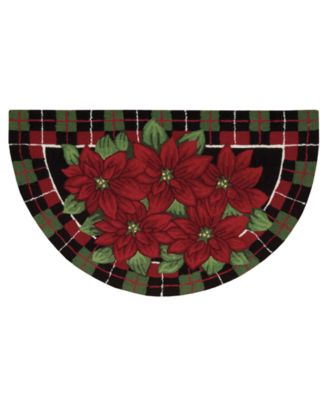 "Image of Nourison Rugs, Holiday Poinsettia ""40x24"" Slice"