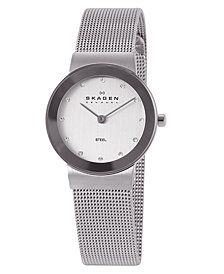 Skagen Women's Freja Stainless Steel Mesh Bracelet Watch 358SSSD