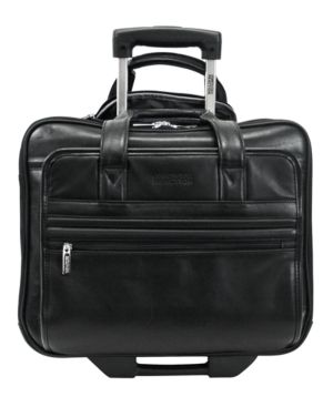 Kenneth Cole Reaction Manhattan Leather Rolling Laptop Briefcase 439179