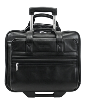 Kenneth Cole Reaction Manhattan Leather Rolling Laptop Briefcase
