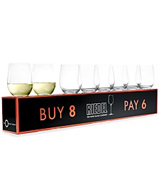 O Chardonnay Wine Glasses 8 Piece Value Set