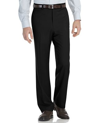 Calvin Klein Modern-Fit Microfiber Dress Pants - Pants - Men - Macy's