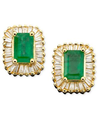 Brasilica by EFFY Emerald (1 ct. t.w.) and Diamond (5/8 ct. t.w.) in 14k Gold