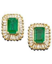 Brasilica by EFFY® Emerald (1 ct. t.w.) and Diamond (5/8 ct. t.w.) in 14k Gold