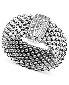 Sterling Silver Ring, Diamond Mesh (1/8 ct. t.w.)