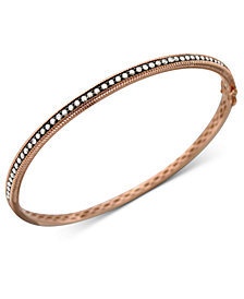 Le Vian Diamond Chocolate Bangle (1 ct. t.w.) in 14k Rose, Yellow or White Gold