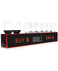 Riedel O Cabernet & Merlot Wine Glasses 8 Piece Value Set