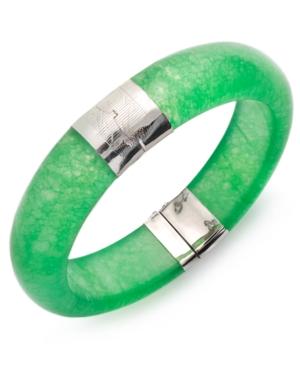 Sterling Silver Bracelet, Jade Bangle