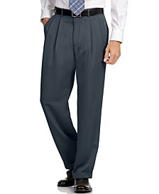 Portfolio Classic Fit Double Pleat No Iron Microfiber Melange Men's Dress Pants