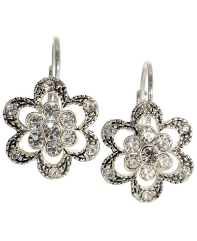 Betsey Johnson Crystal Flower Earrings