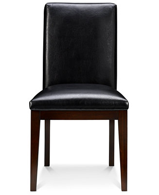 Corso dining room chairs leather set of 6 furniture for Macys dining room chairs