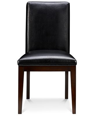 Corso Dining Room Parsons Chair, Leather Set Of 4 - Furniture - Macy'S