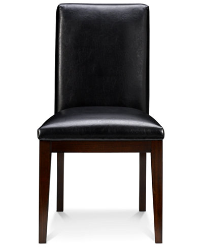 Corso Dining Room Parsons Chair, Leather Set of 4 - Furniture - Macy\'s