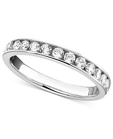 Diamond Band Rings in 14k White Gold