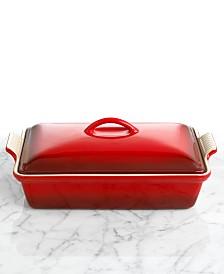"Le Creuset Heritage Stoneware 12"" x 9"" Covered Rectangular Baking Dish"