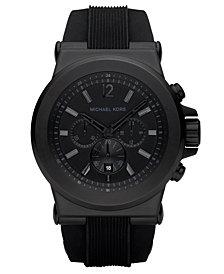 Michael Kors Men's Dylan Black Silicone Strap Watch 45mm MK8152