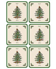 Spode Coasters, Set of 6 Christmas Tree