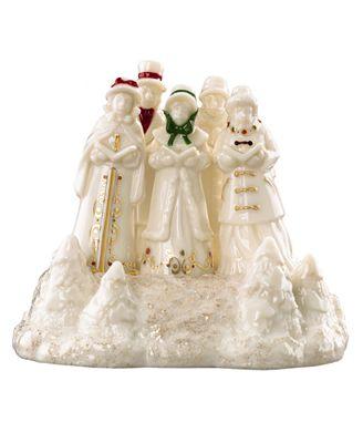 Lenox Collectible Figurine, Exclusive Village Treasures Mistletoe Park Musical Carolers