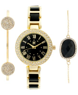 Image of INC International Concepts Women's Acrylic Bracelet Watch & Bracelets Set 30mm, Only at Macy's