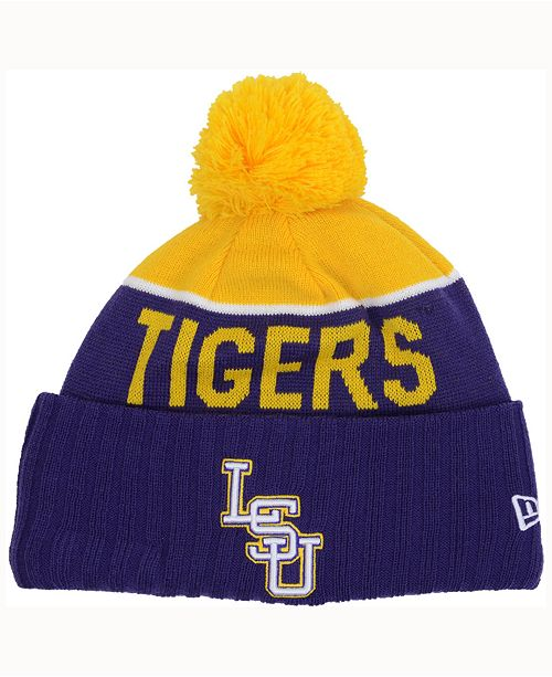 New Era LSU Tigers Sport Knit Hat - Sports Fan Shop By Lids - Men ... b0279c256a4