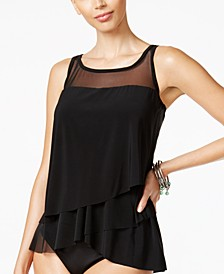 Illusionists Mirage Tiered Tankini Top