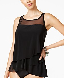 Miraclesuit Illusionists Mirage Tiered Tankini Top