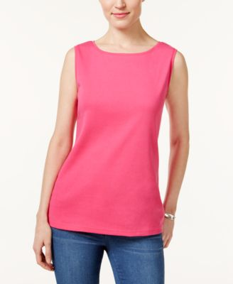 Image of Karen Scott Boat-Neck Tank Top, Only at Macy's