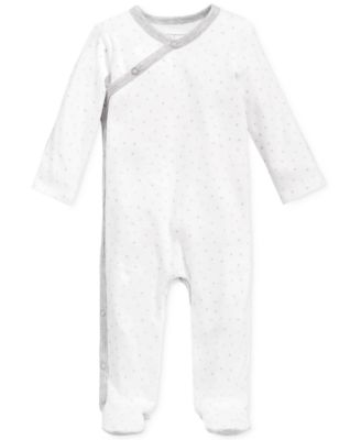 Baby Boys & Girls Star-Print Footed Coverall, Created for Macy's