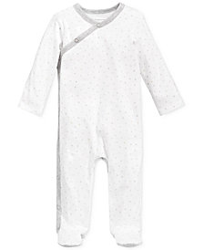 First Impressions Baby Boys & Girls Star-Print Footed Coverall, Created for Macy's