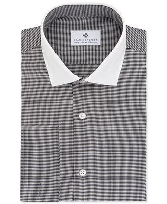 Ryan Seacrest Distinction Men's Slim-Fit Non-Iron Gray French Cuff Dress Shirt, Only at Macy's