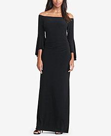 Lauren Ralph Lauren Off-The-Shoulder Jersey Gown