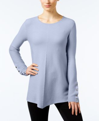 Image of Alfani Ribbed Swing Sweater, Only at Macy's