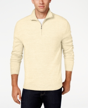 Men's Vintage Style Sweaters – 1920s to 1960s Weatherproof Vintage Mens Quarter-Zip Sweater $14.86 AT vintagedancer.com