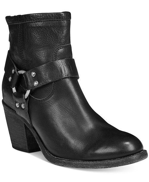 b9218f6c521 Frye Tabitha Harness Short Block-Heel Booties & Reviews - Boots ...