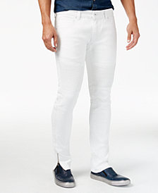 I.N.C. Men's Skinny-Fit Moto Jeans, Created for Macy's