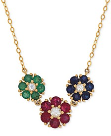 Multi-Gemstone (2-1/3 ct. t.w.) Necklace in 14k Gold