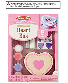 Melissa & Doug Decorate-Your-Own Wooden Heart Box Kit