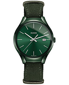 Rado Unisex Swiss True Green NATO Nylon Strap Watch 40mm R27233316
