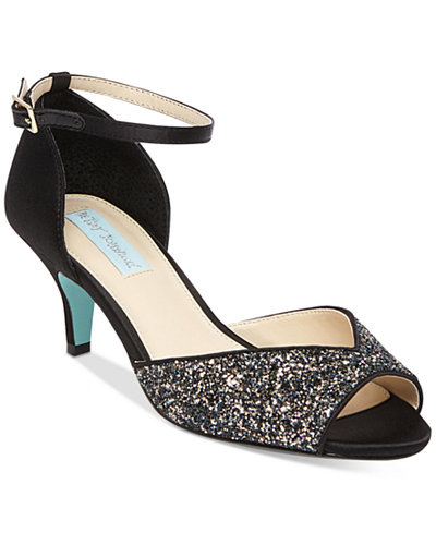 Blue by Betsey Johnson Rita Ankle-Strap Evening Sandals