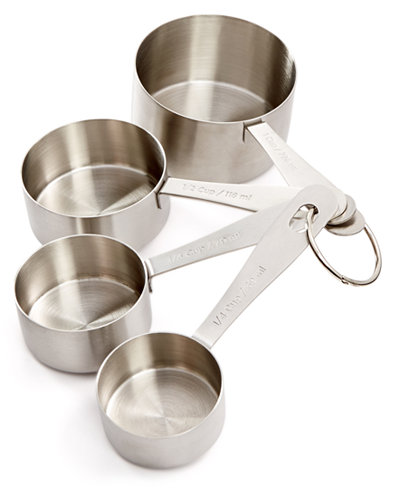 Martha Stewart Collection Stainless Steel Measuring Cups, Only at ...