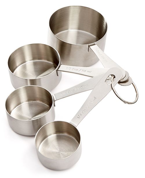 Martha Stewart Collection Stainless Steel Measuring Cups, Created ...