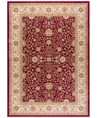 km home oxford kashan red area rugs