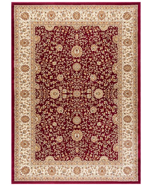 "KM Home CLOSEOUT! Oxford Kashan Red 3'11"" x 5'11"" Area Rug"