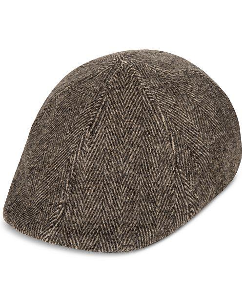 ada61c2066f048 Levi's Men's Herringbone Flat-Top Cap & Reviews - Hats, Gloves ...
