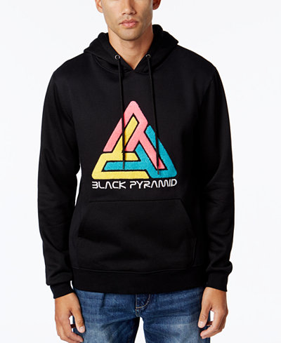 Black Pyramid Men's Embroidered Hoodie
