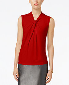 Tommy Hilfiger Knot-Neck Shell