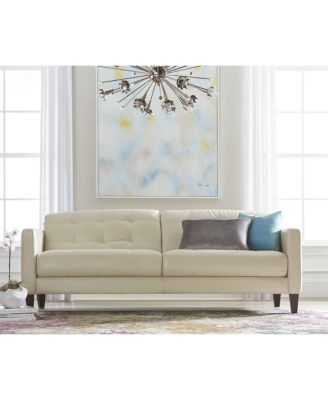 Milan Leather Sofa Furniture Macy S