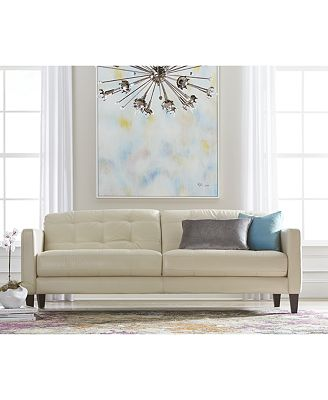 Macy's Living Room Furniture Milan Leather Sofa Living Room Furniture Collection  Furniture