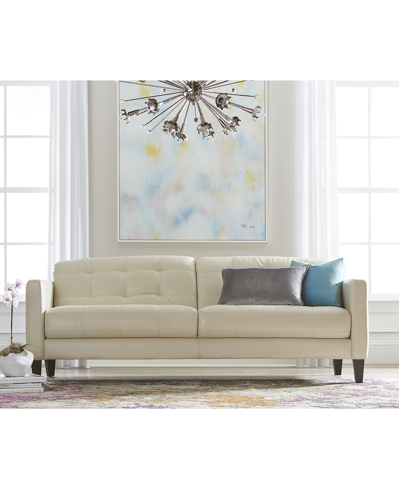 Versace Living Room Furniture Milan Leather Sofa Living Room Furniture Collection Furniture